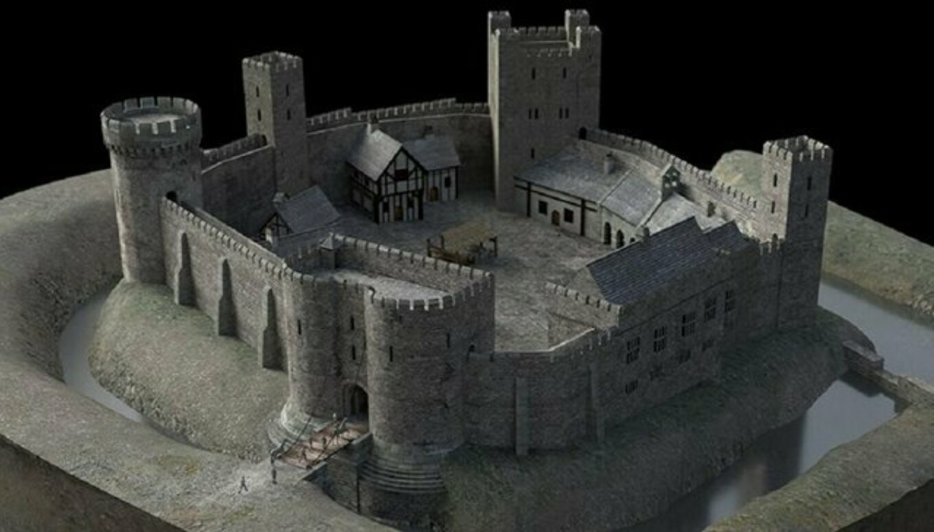 An impression of how Sheffield Castle could have looked Pictures University of Sheffield and Human VR