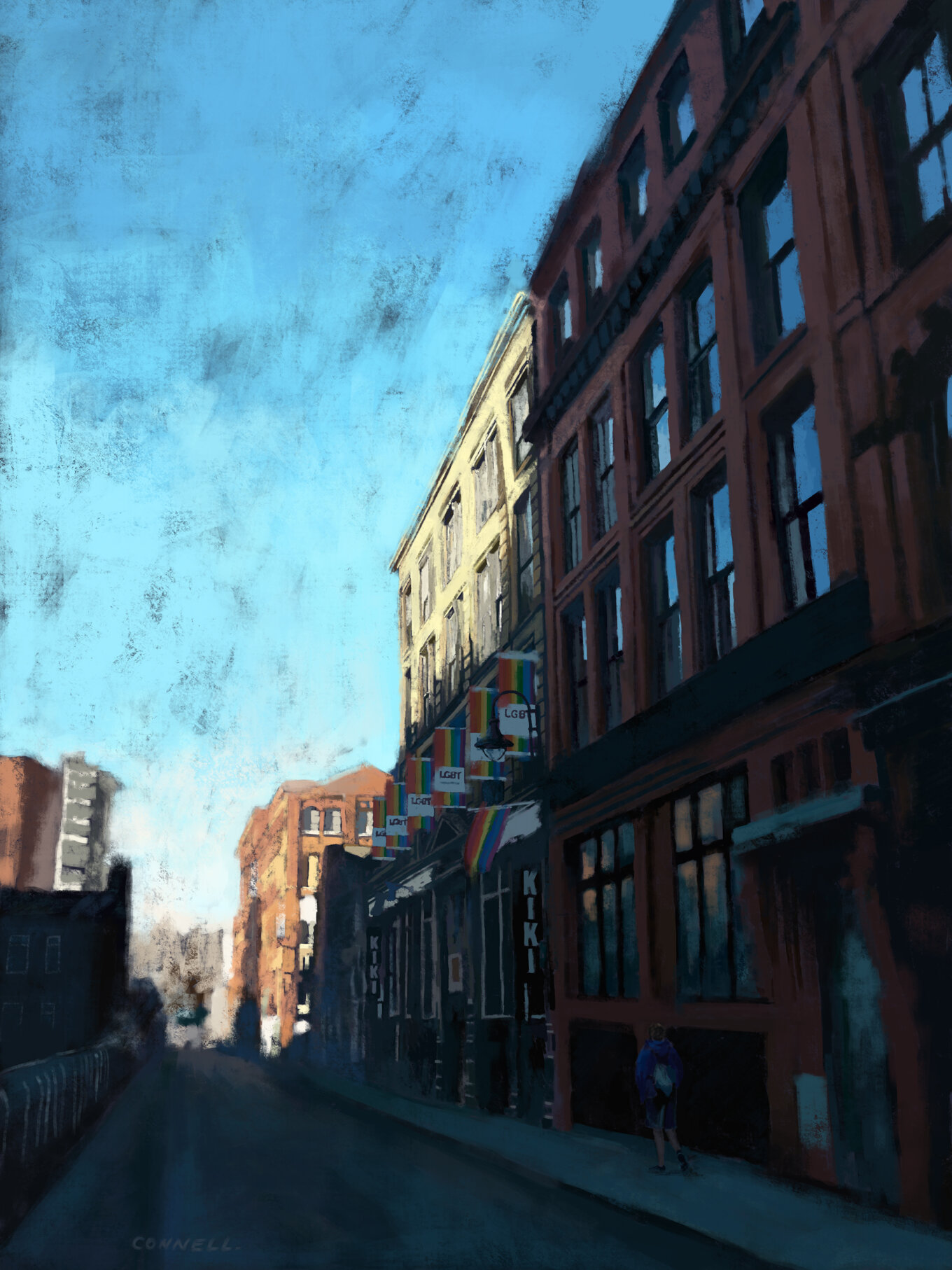 Canal Street Digital Painting