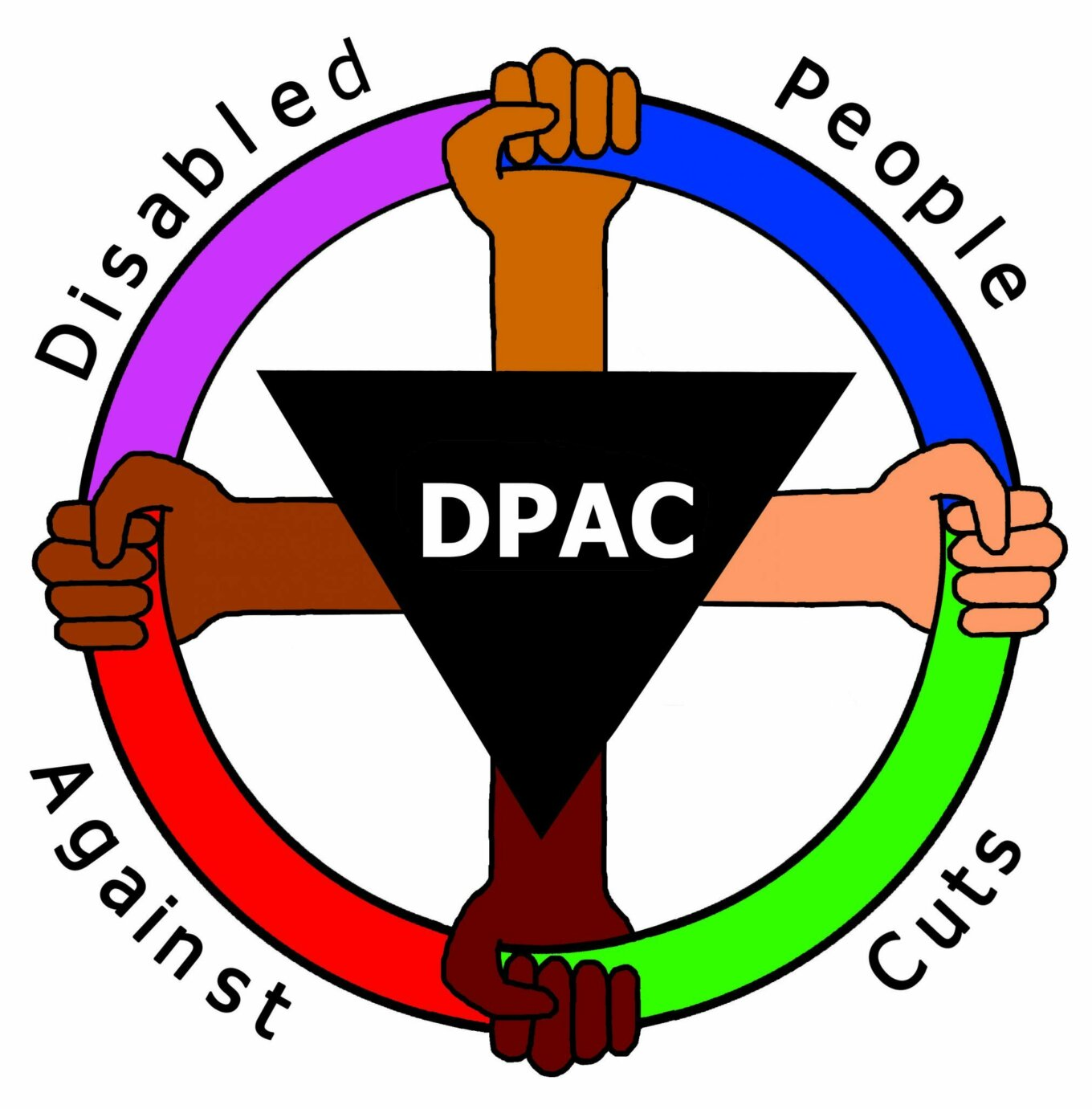 Disabled People Against Cuts DPAC logo