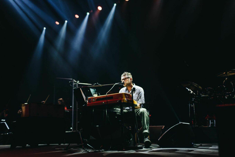 Damon Albarn at the keyboard