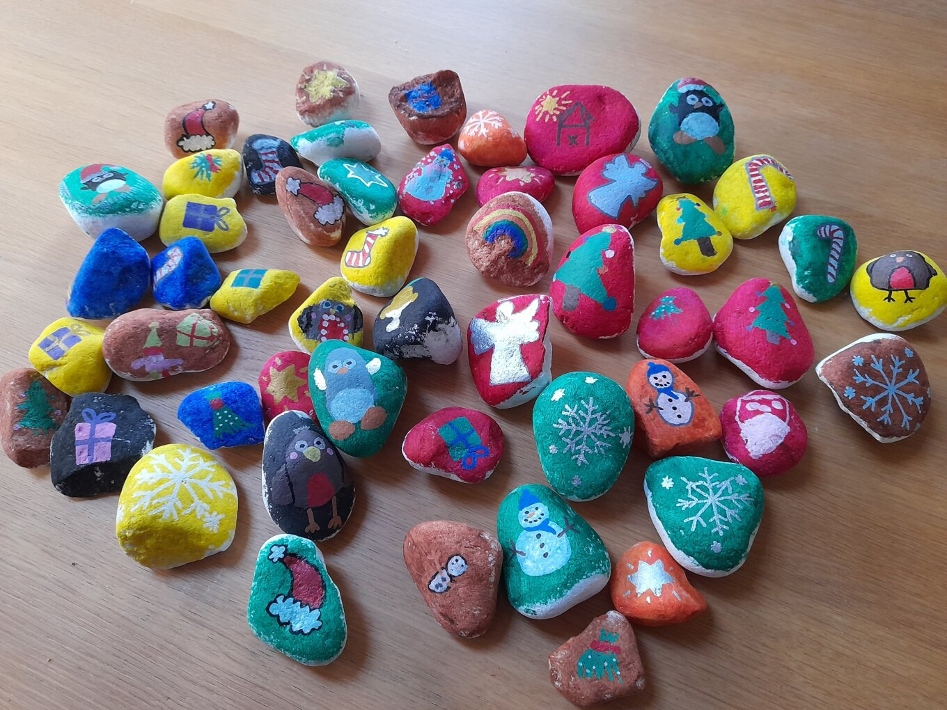 Darnall Pebbles painted by Arnolds