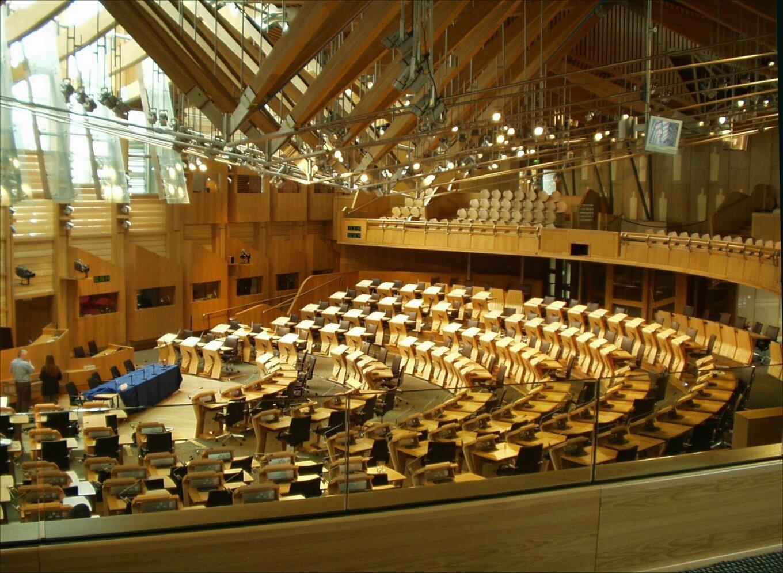 Debating chamber Scottish Parliament 31 05 2006