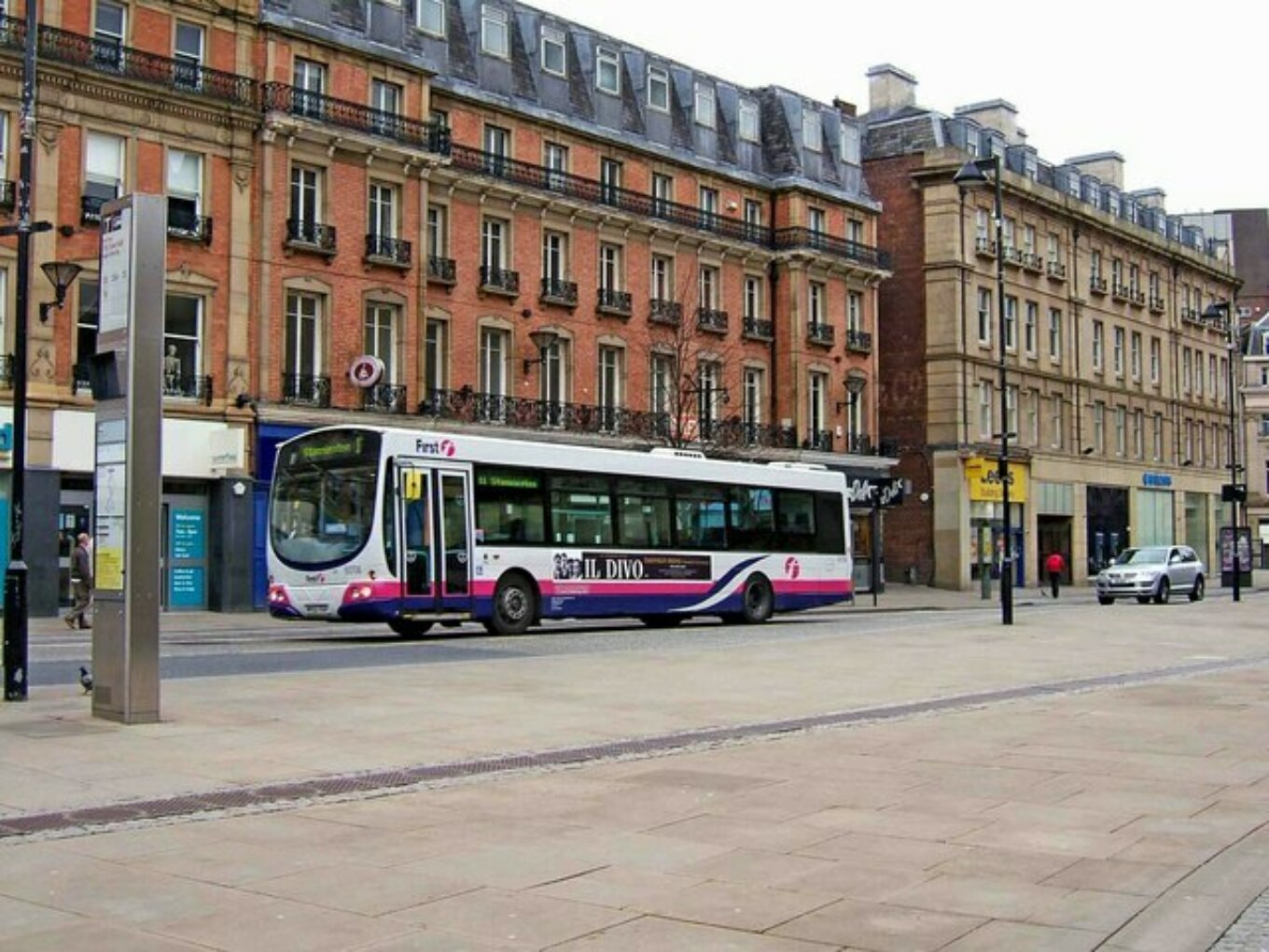 First South Yorkshire Volvo single deck bus in Pinstone Street geograph org uk 1254600