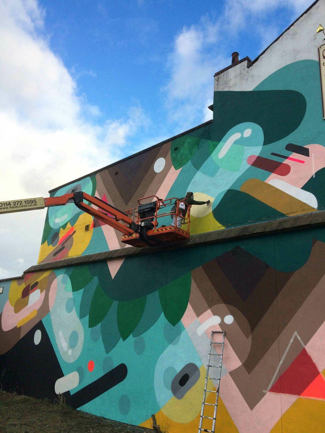 Florence Blanchard painting mural art