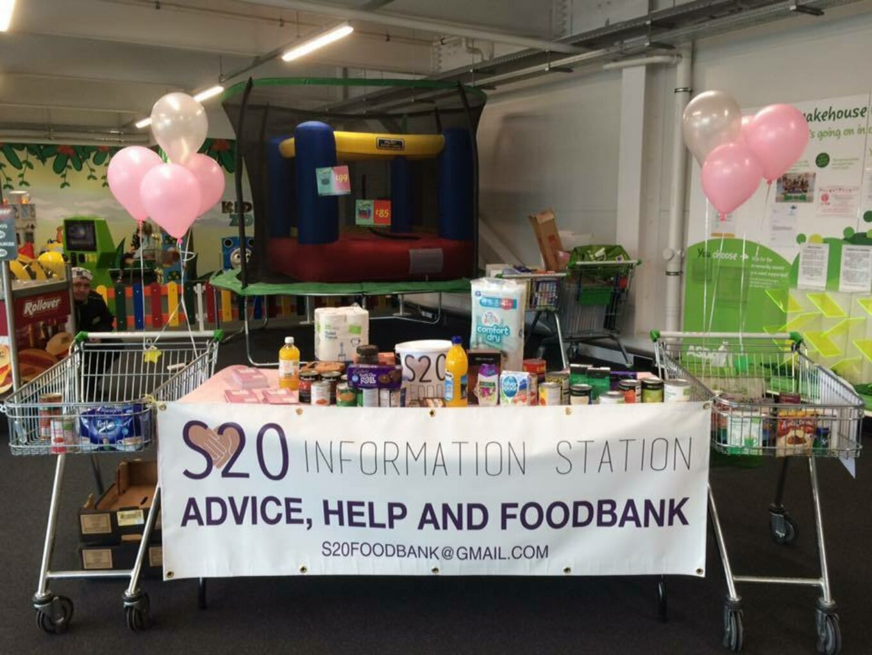 Information Station at S20 Food Bank