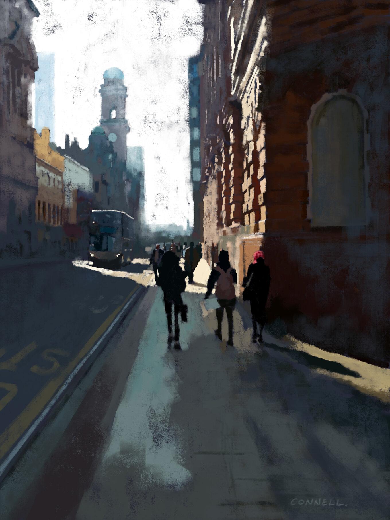 Oxford Road Looking South Digital Painting