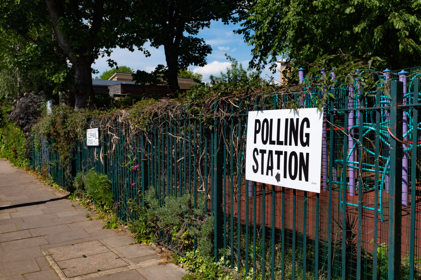 Polling Station Sign Canonbury London European Elections 2019