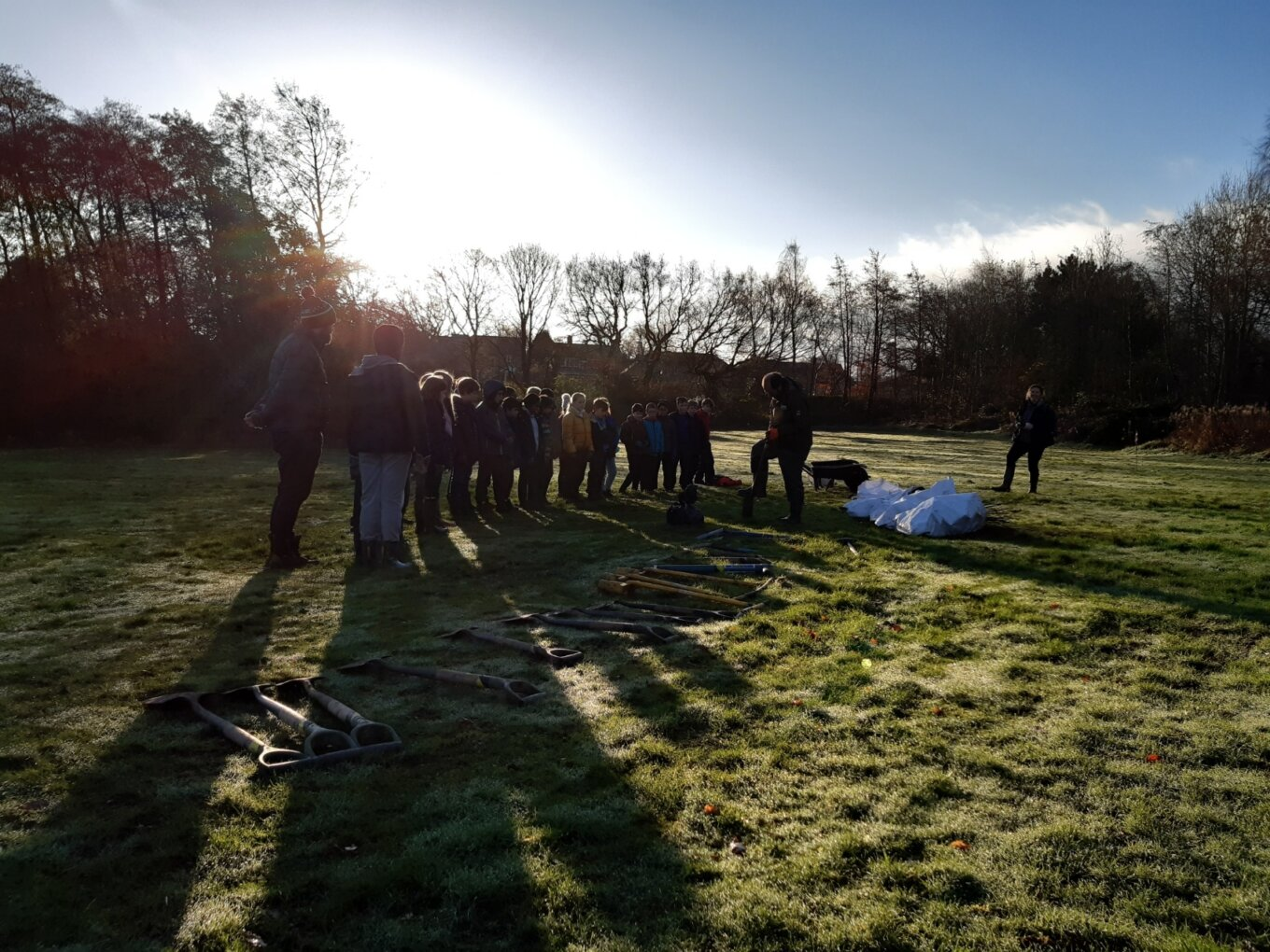 Treevitalise Pupils from Dore Primary School learning about tree planting techniques with the Sheffield Community Forestry team last December