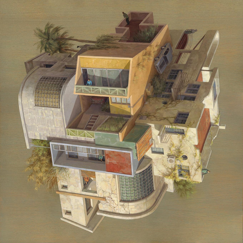 URBAN 80x80cm Oilonwoodpanel View Points Thinkspace Gallery sept2018 còpia