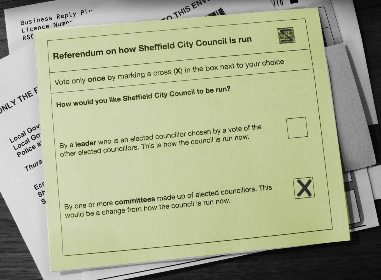 Sheffield referendum ballot paper