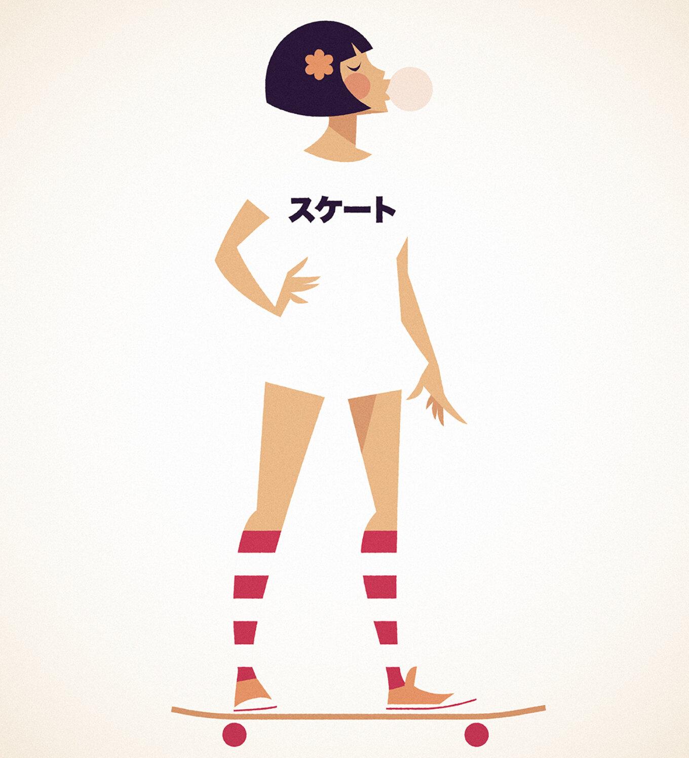 Stan Chow Skater Girl