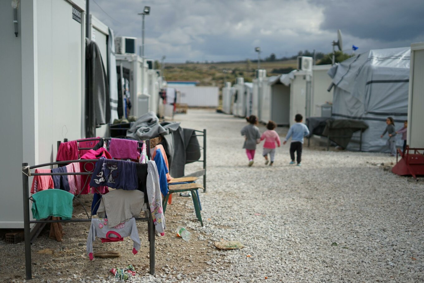 Syrian refugee camp near Athens
