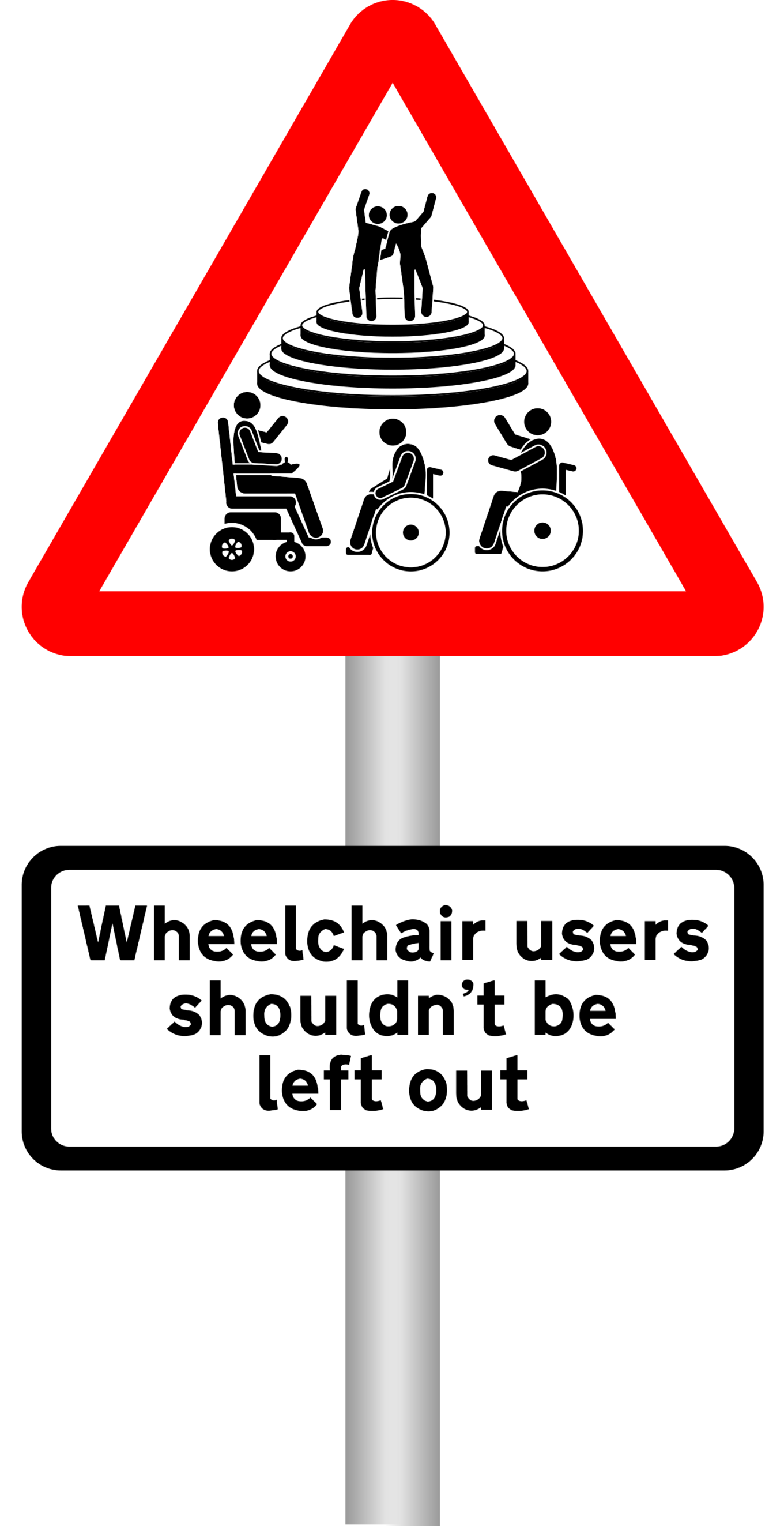 Wheelchair users shouldn't be left out