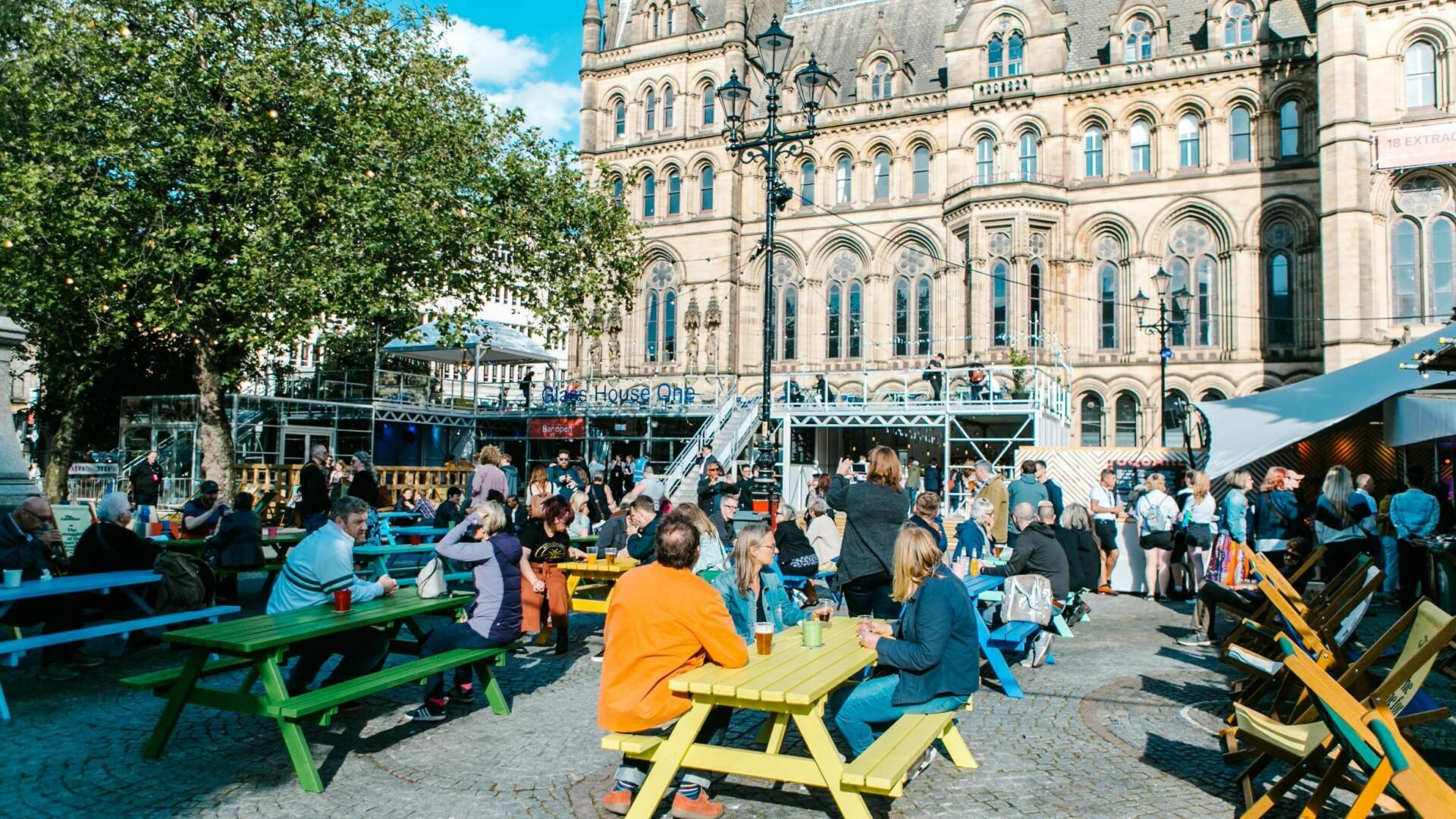 Festival Square at Manchester International Festival 2019 credit Louis Reynolds