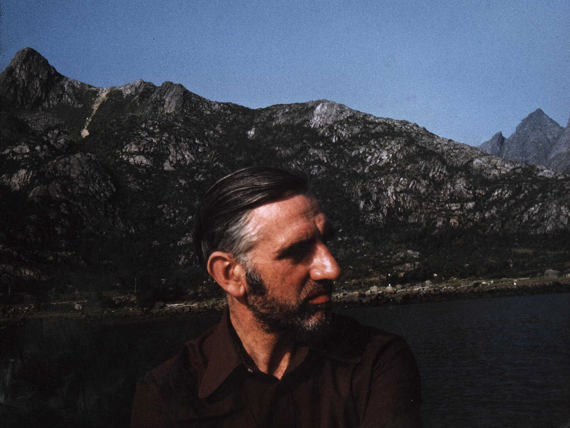 Eric Baker on holiday in Norway 1974