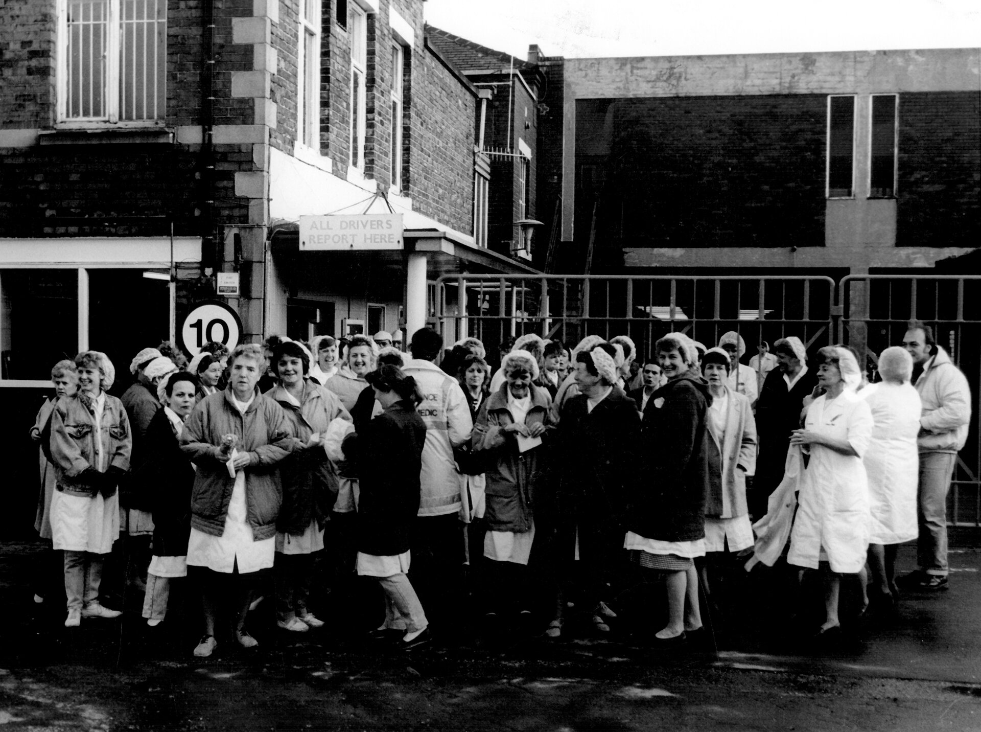 George Bassett and Co Ltd confectionery manufacturers employees out in support of the ambulance workers