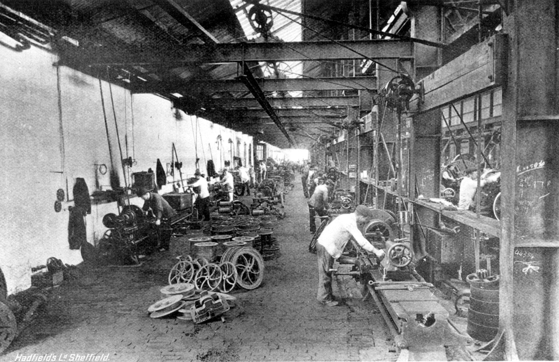 Hadfields Ltd East Hecla Works Machine Shop No 1 bay Meadowhall Sheffield