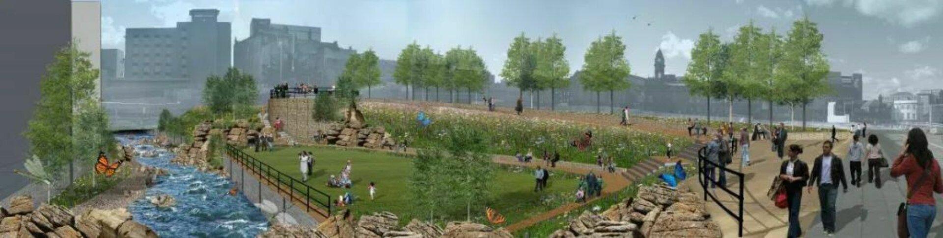 Sheaf Field Castlegate Park Plans pocket park