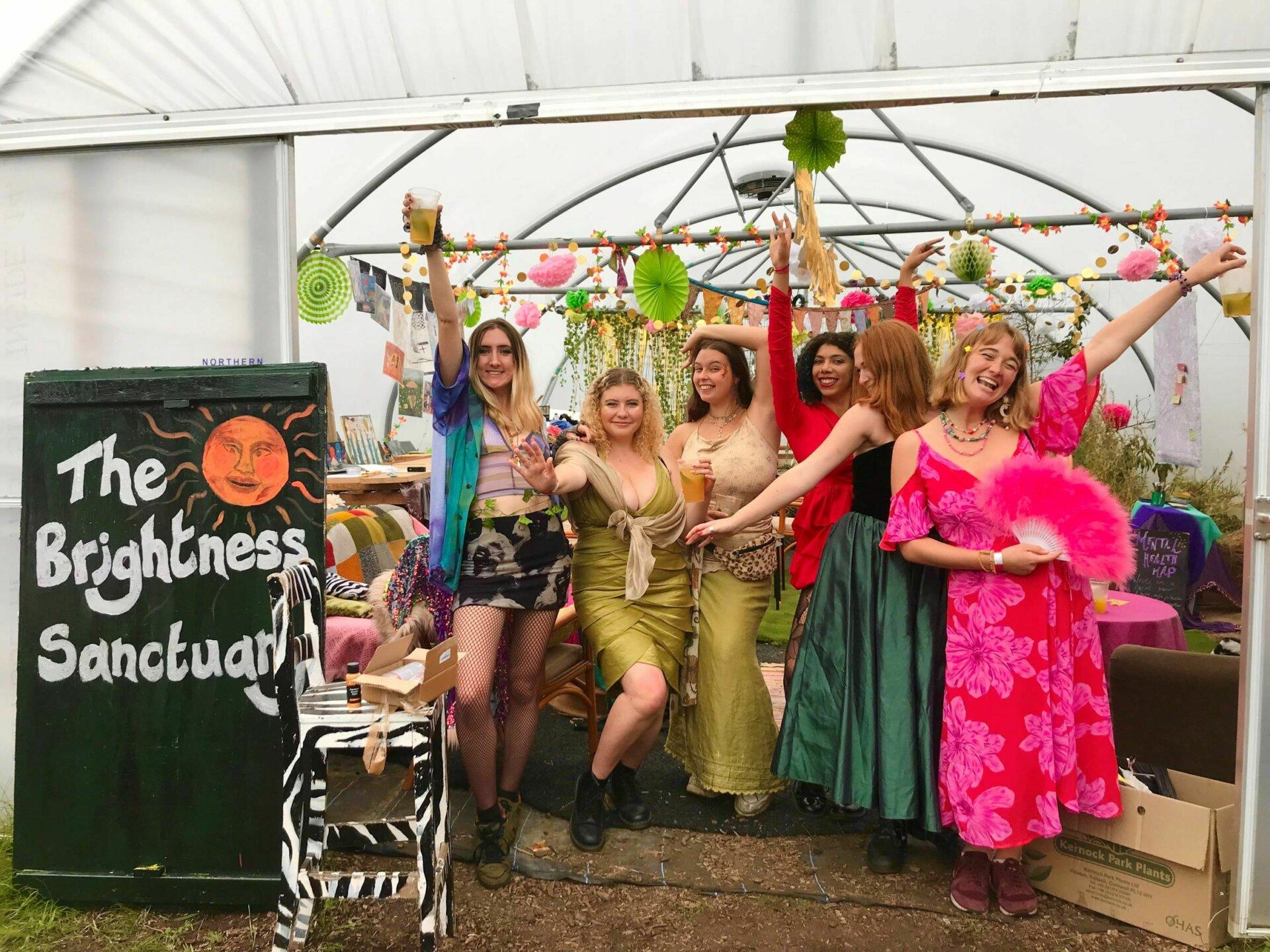 The So La Flair team in the Brightness Santuary at Green Island Festival