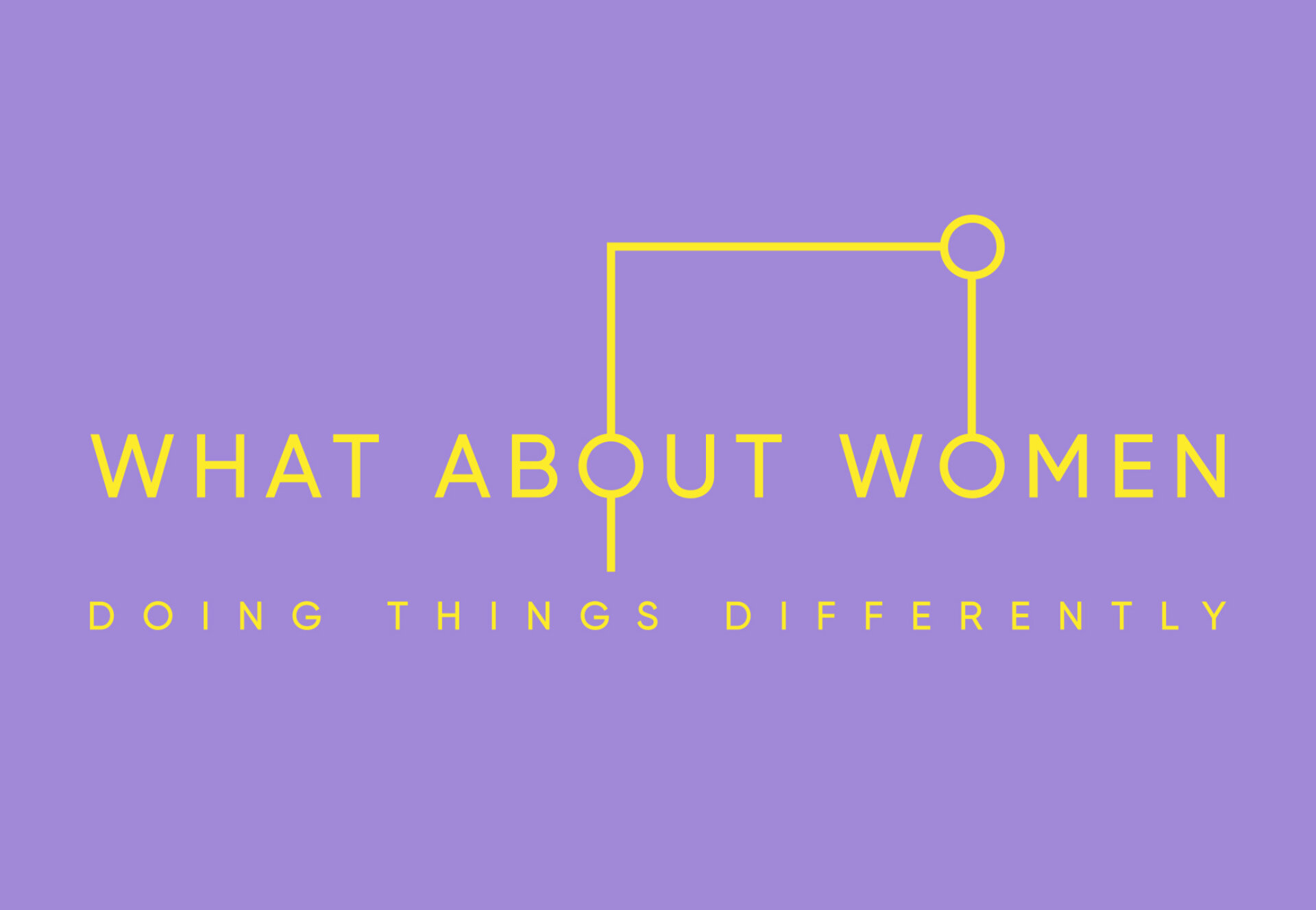 What About Women Main Logo Purple
