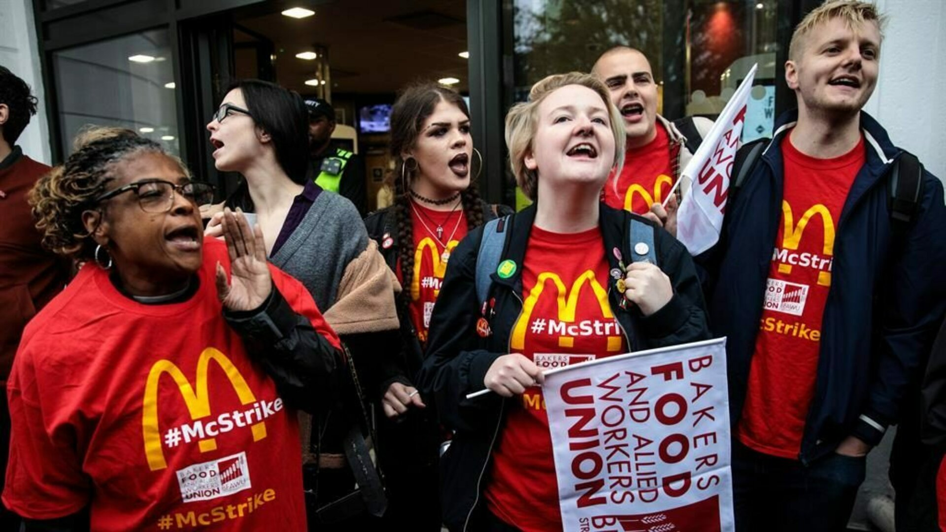 Workers protest pay rise