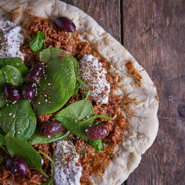 Percy & Lily's Lebanese Lamb Flatbread
