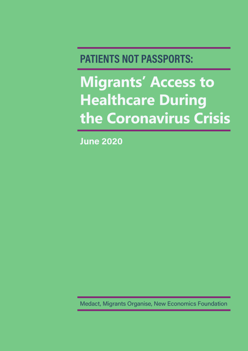 Patients Not Passports Migrants Access to Healthcare During the Coronavirus Crisis FINAL 1