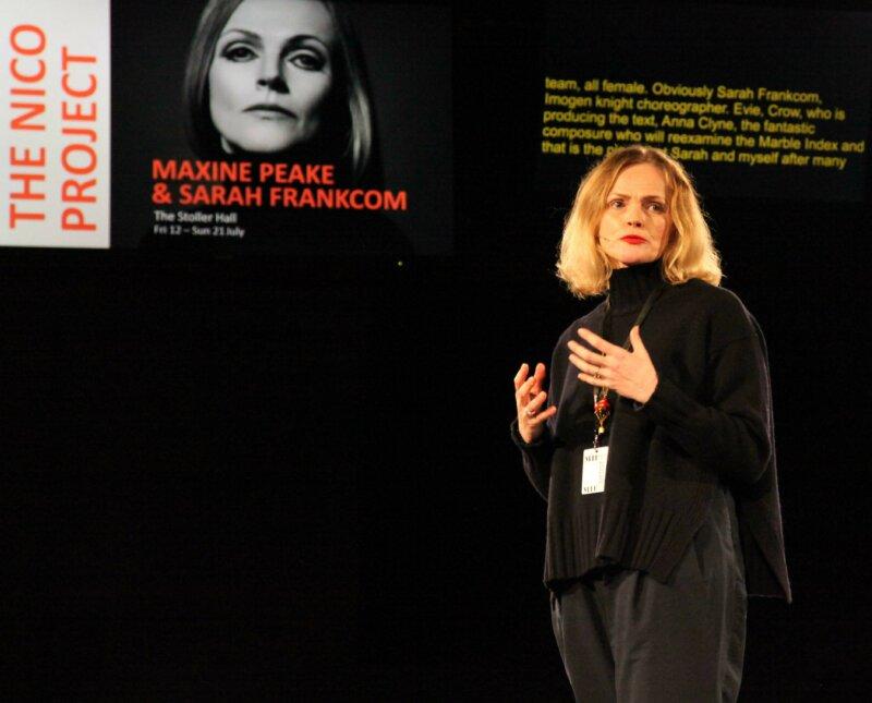 Maxine Peake speaking at MIF