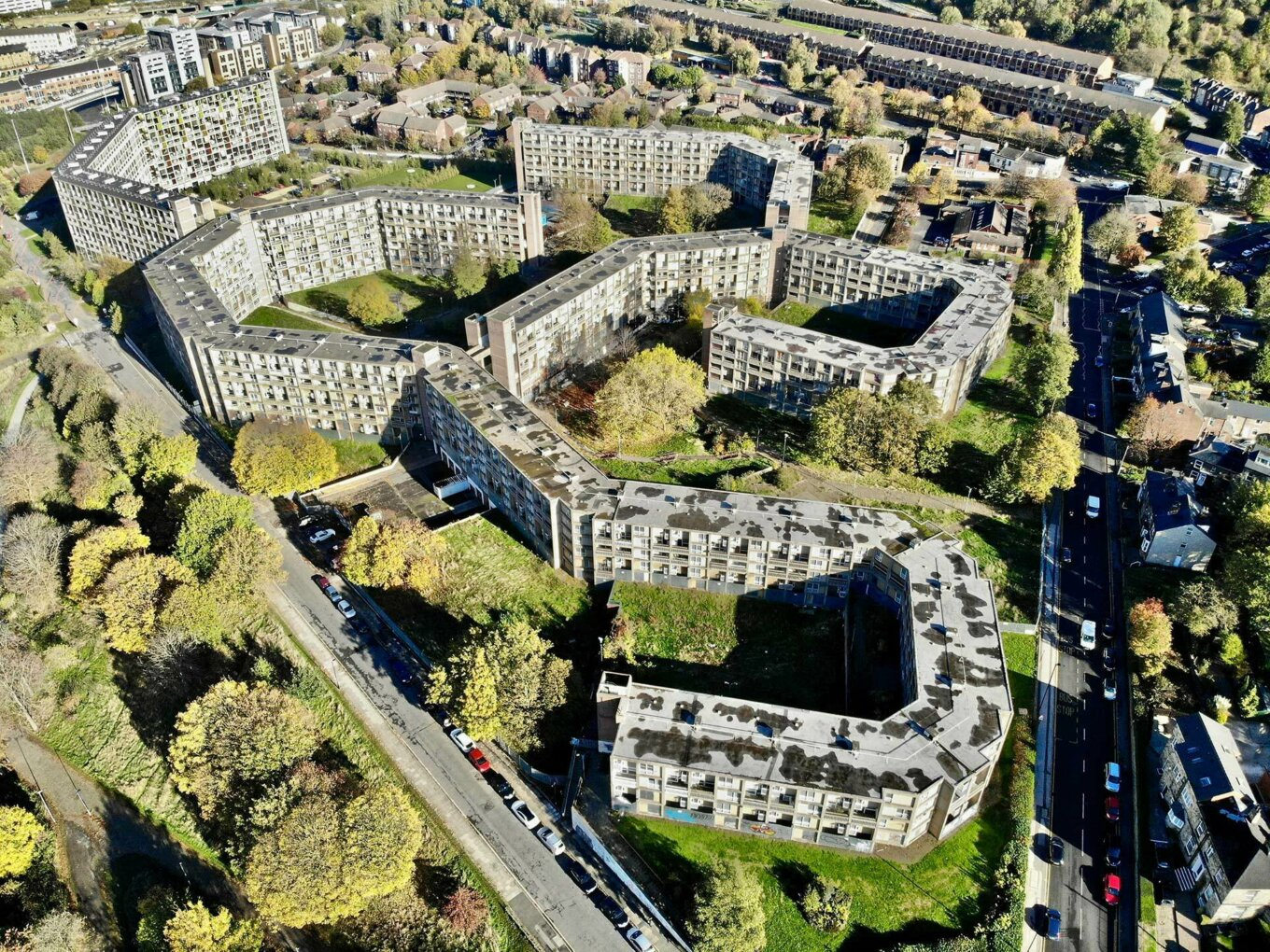 Park Hill Flats from above