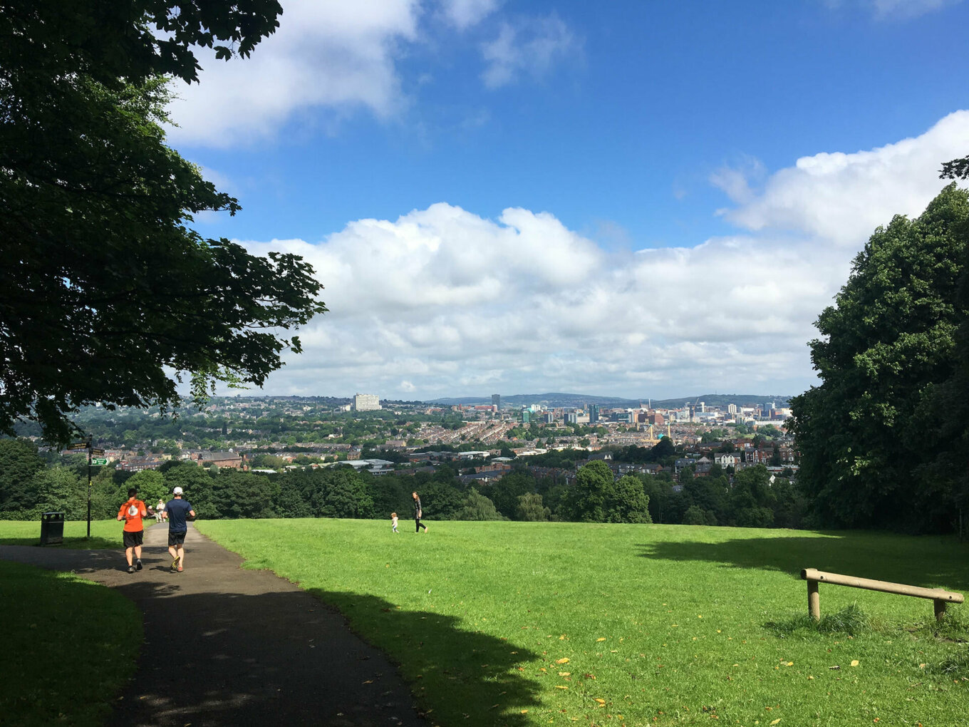 View from the top of Meersbrook Park