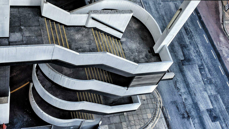 Sheffield car park staircase