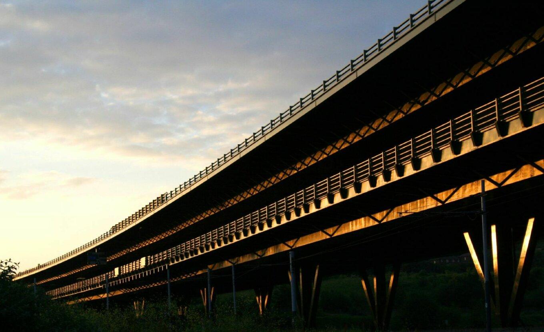 Tinsley viaduct at sunset