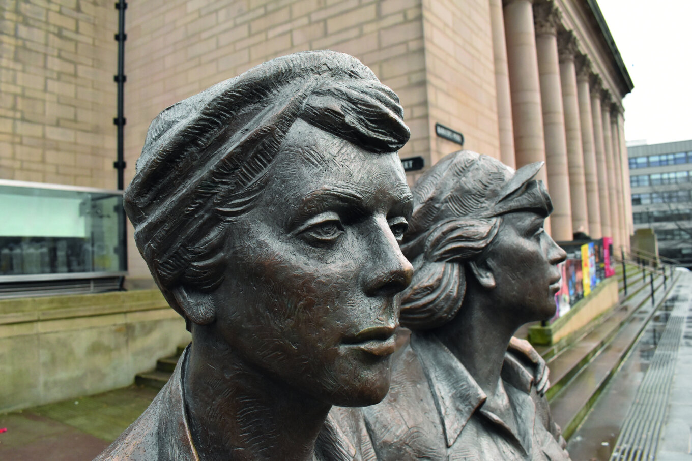 Women of Steel statue by Martin Jennings no photo credit required