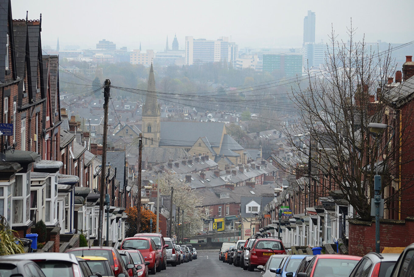 Sheffield viewed from Hunter House Road